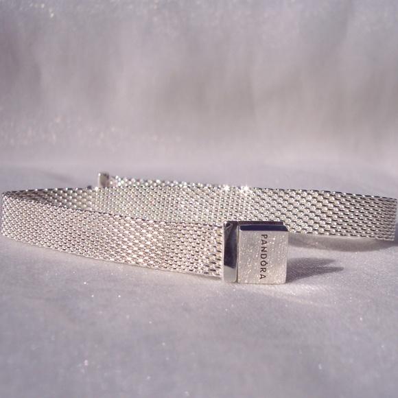 Pandora REFLEXIONS Bracelet MESH Silver Charms